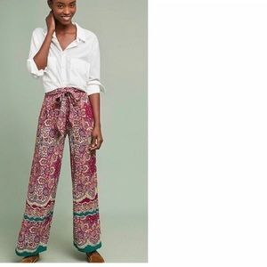 Anthropologie Printed Wide Leg Pants-Sz 16 NWT